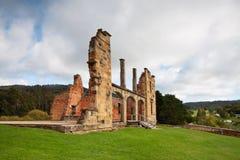 Ruinas del hospital en cárcel histórica del Port Arthur Fotos de archivo