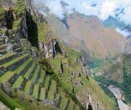 Ruinas del inca de Machu Picchu, Perú Imagen de archivo