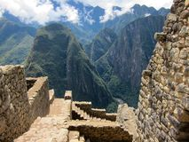Ruinas del inca de Machu Picchu, Perú Foto de archivo libre de regalías