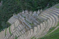 Ruinas del inca de Winawayna fotos de archivo