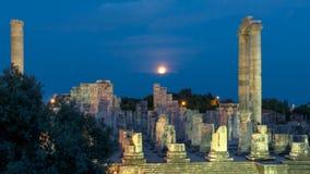 Ruinas del más grande del templo de Apolo del mundo almacen de metraje de vídeo