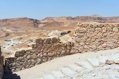 Ruinas del Masada antiguo, distrito meridional, Israel fotos de archivo
