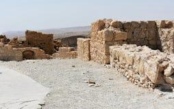 Ruinas del Masada antiguo, distrito meridional, Israel fotos de archivo libres de regalías