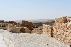 Ruinas del Masada antiguo, distrito meridional, Israel imágenes de archivo libres de regalías