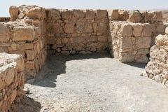Ruinas del Masada antiguo, distrito meridional, Israel fotografía de archivo