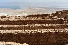Ruinas del Masada antiguo, distrito meridional, Israel imagen de archivo