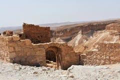 Ruinas del Masada antiguo, distrito meridional, Israel foto de archivo libre de regalías