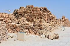 Ruinas del Masada antiguo, distrito meridional, Israel fotografía de archivo libre de regalías