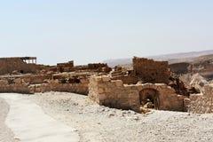 Ruinas del Masada antiguo, distrito meridional, Israel foto de archivo