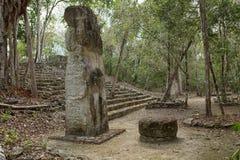 Ruinas del maya de Calakmul en México imagenes de archivo