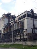 Ruinas del molino de la fábrica imágenes de archivo libres de regalías