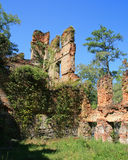 Ruinas del molino New Manchester Manufacturing Company en el parque de estado de la cala de Sweetwater en Georgia foto de archivo libre de regalías