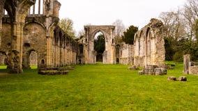 Ruinas del monasterio cisterciense de la abadía F de Netley Fotografía de archivo libre de regalías