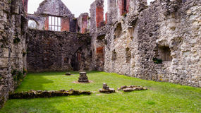 Ruinas del monasterio cisterciense de la abadía H de Netley Imágenes de archivo libres de regalías