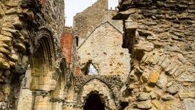 Ruinas del monasterio cisterciense de la abadía I de Netley Foto de archivo