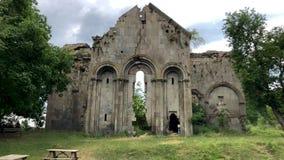 Ruinas del monasterio y de la iglesia tibetanos viejos en el pueblo de Cevizli, Savsat, Artvin, Turquía