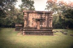 Ruinas del paisaje del viaje de Sri Lanka de Poḷseñal Sri Lanka de la UNESCO de la ciudad antigua del onnaruwa foto de archivo libre de regalías
