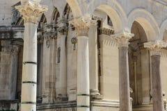 Ruinas del palacio de Diocletian Imágenes de archivo libres de regalías