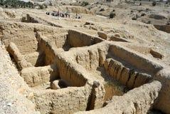 Ruinas del palacio de Hasmonean en el desierto de Judea. fotografía de archivo