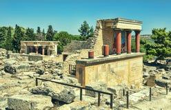Ruinas del palacio de Knossos Heraklion, Creta Fotos de archivo libres de regalías