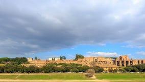 Ruinas del palacio de la colina de Palatine en Roma, Italia tim metrajes