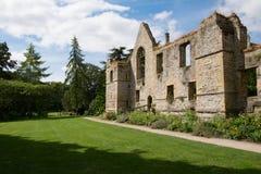 Ruinas del palacio de los obispos de la iglesia de monasterio de Southwell Fotos de archivo