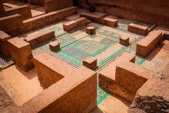 Ruinas del palacio del EL Badi marrakesh marruecos imagen de archivo