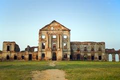 Ruinas del palacio del Sapeg, Ruzhany, Bielorrusia Fotografía de archivo libre de regalías