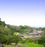 Ruinas del palacio real, Palenque, Chiapas, México foto de archivo