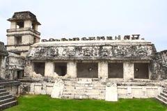 Ruinas del palacio real, Palenque, Chiapas, México fotografía de archivo