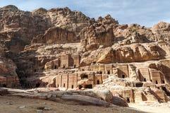 Ruinas del Petra Imagen de archivo libre de regalías