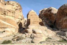 Ruinas del Petra Foto de archivo libre de regalías