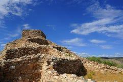 Ruinas del pueblo de Sinagua Imagen de archivo libre de regalías