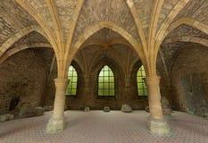 Ruinas del siglo XVIII de Orval Fotografía de archivo