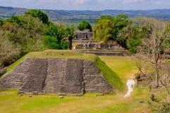 Ruinas del sitio del maya de Xunantunich en Belice Fotografía de archivo libre de regalías