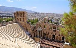 Ruinas del teatro de Dionysus fotografía de archivo