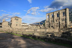 Ruinas del teatro romano fotos de archivo libres de regalías