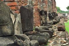 Ruinas del templo antiguo de Wat Mahathat Imagen de archivo