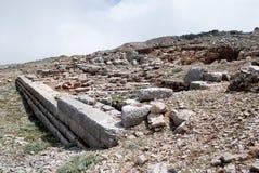 Ruinas del templo antiguo de Zeus Imagen de archivo libre de regalías