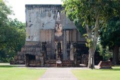 Ruinas del templo budista Fotografía de archivo
