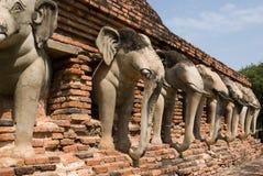 Ruinas del templo budista Imagen de archivo