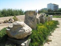 Ruinas del templo de Ammon Zeus Fotografía de archivo libre de regalías
