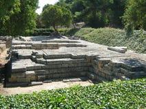 Ruinas del templo de Ammon Zeus Imagen de archivo