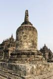 Ruinas del templo de Plaosan en la isla de Java, Indonesia Imagen de archivo libre de regalías