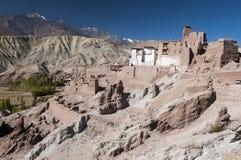 Ruinas del templo del budhist en Basgo, Ladakh, la India Imagen de archivo