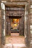 Ruinas del templo del champasak del phu de Wat, Laos Fotografía de archivo