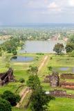 Ruinas del templo del champasak del phu de Wat, Laos Fotografía de archivo libre de regalías