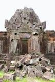 Ruinas del templo del champasak del phu de Wat, Laos Imagen de archivo libre de regalías