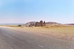 Ruinas del templo del pharaoh Imágenes de archivo libres de regalías