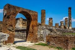 Ruinas del templo en Pompeya Italia Fotos de archivo libres de regalías